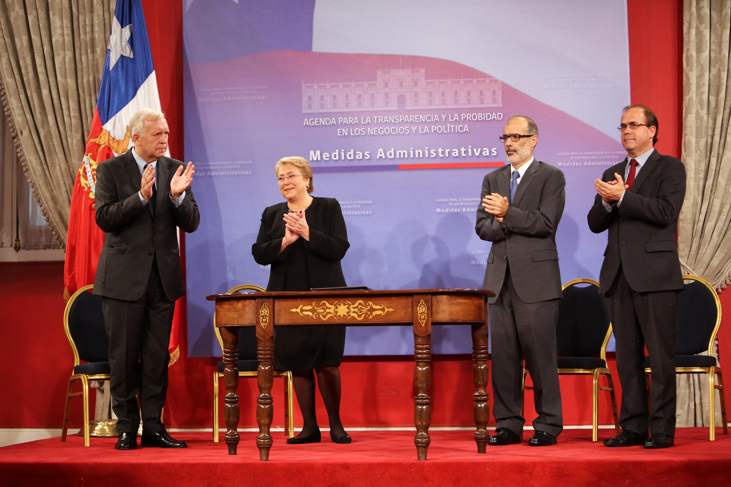presidenta bachelet anunci cumplimiento de medidas
