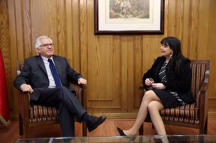 Ministro fern ndez se re ne con ministra blanco en for Nombre del ministro de interior y justicia 2016