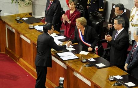 Rodrigo pe ailillo asume como ministro del interior for Ministerio del interior pagina oficial